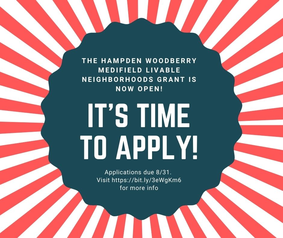 Applications are open for the Hampden Woodberry Medfield Livability Grant
